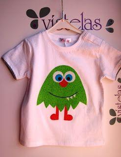 Vistelas. Camiseta Monstruo para niño