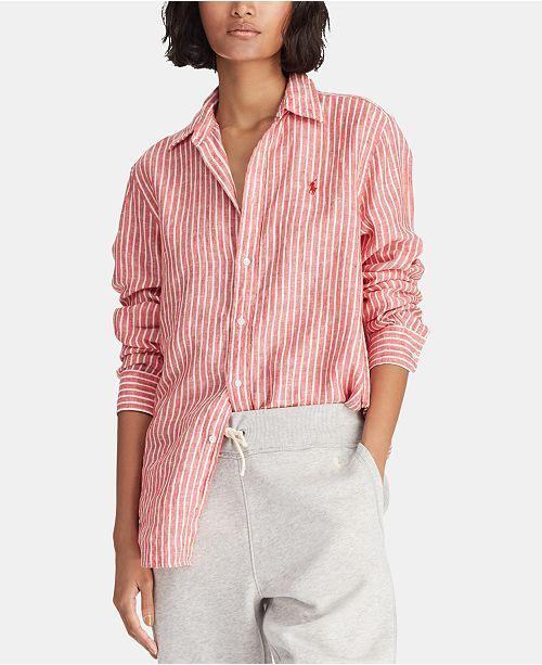 8cdf06c5b Polo Ralph Lauren Relaxed-Fit Linen Shirt   Reviews - Women - Macy s