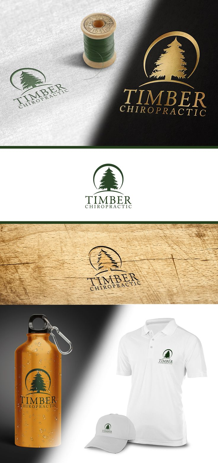 Design #84 by panta rei | Logo needed for chiropractic clinic with pines tree - Timber