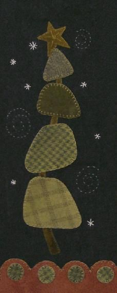 Wool Applique Christmas Tree Wool Applique Pattern from Cotton Tales