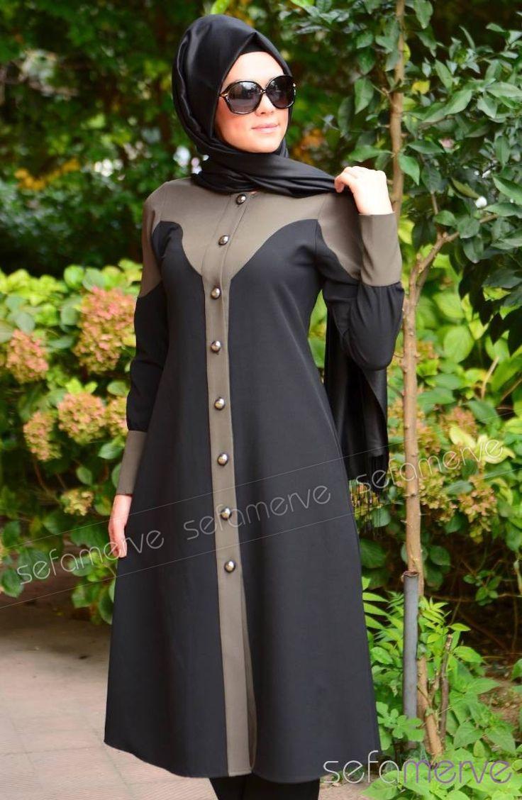 Tesettür Tunik 5124-03 Siyah