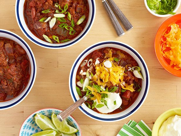 Ultimate Meaty Chili #BigGame: Food Network, Famous Beef, Chilis Recipes, Maine Dishes, Ground Beef, Pat Famous, Pork Chilis, Meati Chilis, Beef Chilis