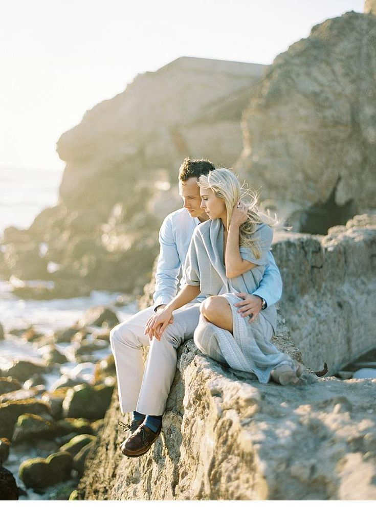 Beach Engagement Shoot by Brumley & Wells Photography - Hochzeitsguide