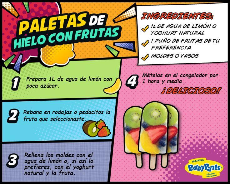Aprovecha esta temporada de calor para introducir frutas a la dieta de tus peques de manera divertida.