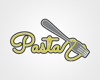 Pasta Logo design - Illustrative logo design. I would suggest for Italian restaurants/fast foods or for anyone  who loves pasta Price $300.00