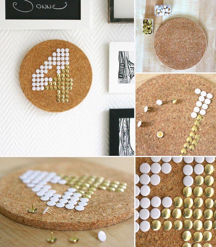 Die besten 25+ Korkuntersetzer Ideen auf Pinterest Weinkorken - deko ideen hexagon wabenmuster modern