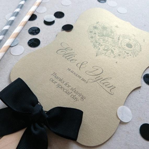 Wedding Program Fan - Order of Service Programme Fan - Lila Wedding Range