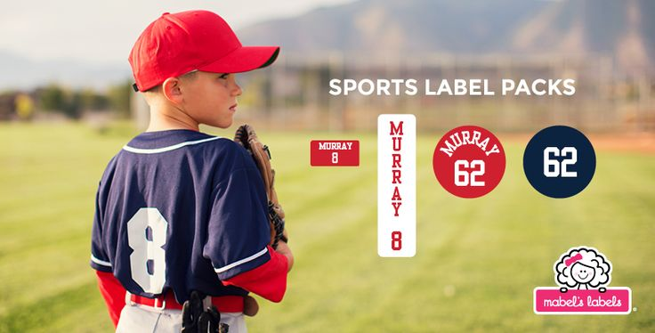 Calling all baseball enthusiasts! Check out the Mabel's Labels Baseball Label Pack. Created especially for ball players in your family, our custom labels will keep everyone's equipment in order. Great for water bottles, bats, shoes and more, these labels will make sure that all of the look-alike equipment gets into the right bag after the big game!  Approved for use on all Reebok – CCM helmets.