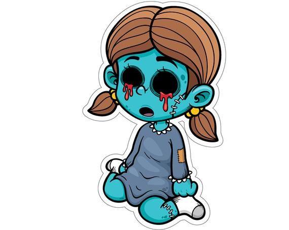 32 Halloween Zombie Girl Birthday Yard Card Signs With Metal Stake Yard Sign Rental Graffiti Cartoons Zombie Drawings Cute Zombie