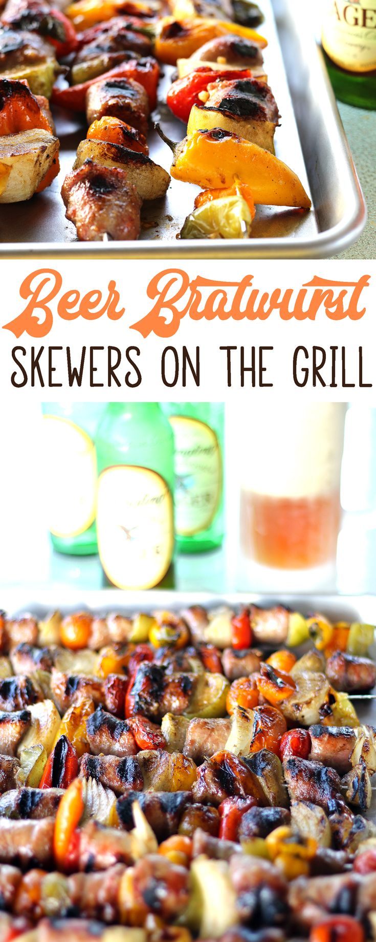 To make the most of your time with family and friends, I've got a huge piece of advice. Keep the food simple and delicious! We can't wait until you try these amazing Bold Beer Bratwurst Skewers on the Grill. via @Buy This Cook That