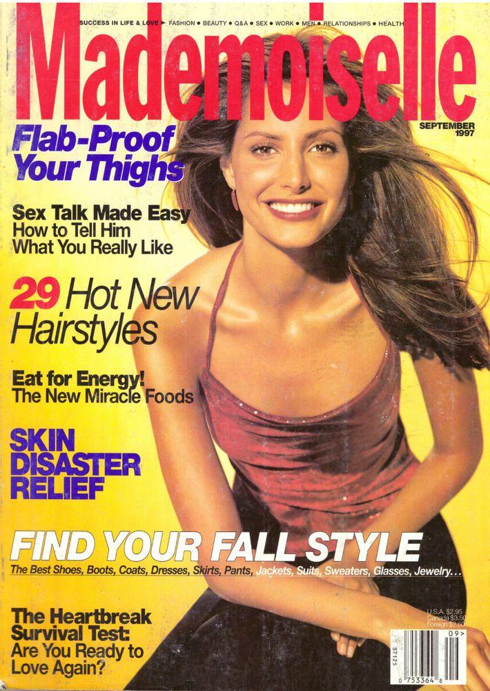 1997 Mademoiselle Magazine September Lucy Gordon Kirsty Hume Vintage Ads VTG 90s #Mademoiselle