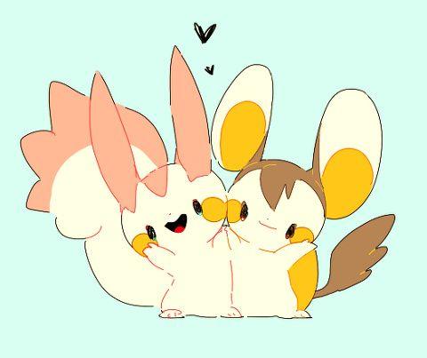 色違い Pokemon Pachirisu and Emolga