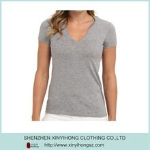 Grey color Ladies bamboo Spandex belended V neck tee shirts  Best seller follow this link http://shopingayo.space