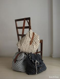 Cool crocheted backpacks.... but I don't really want to look at anymore crocodile stitches just yet.