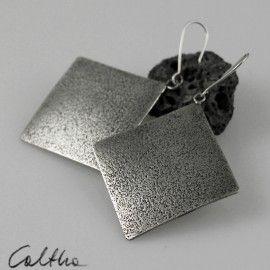 Sand - metal earrings
