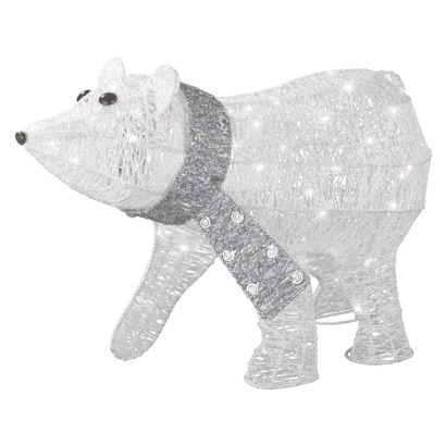 Philips Lighted Glitter String Polor Bear Outdoor D Cor Figurine