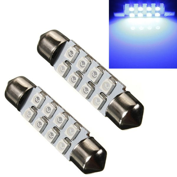 High Quality Car Light 8 SMD LED 31mm 36mm  39mm 41mm White 35281210 8SMD 8LED Festoon Dome Lamp Bulb DC12V   Specifications: Voltage: 12v DC Length: 31mm/36mm /39mm / 41mm  NO. of lamp beads: 8pcs 3528 smd Lumens: 48LM light color: white / blue Car Interior SMD LED Lighting Festoon 8SMD 3528  Use as: Reading Lights, Decorating Lights Package included: 1 x Festoon 36mm led light Note: pls leave message to tell us the size,or we ...    US $0.32  #shopaholic #dailydeals