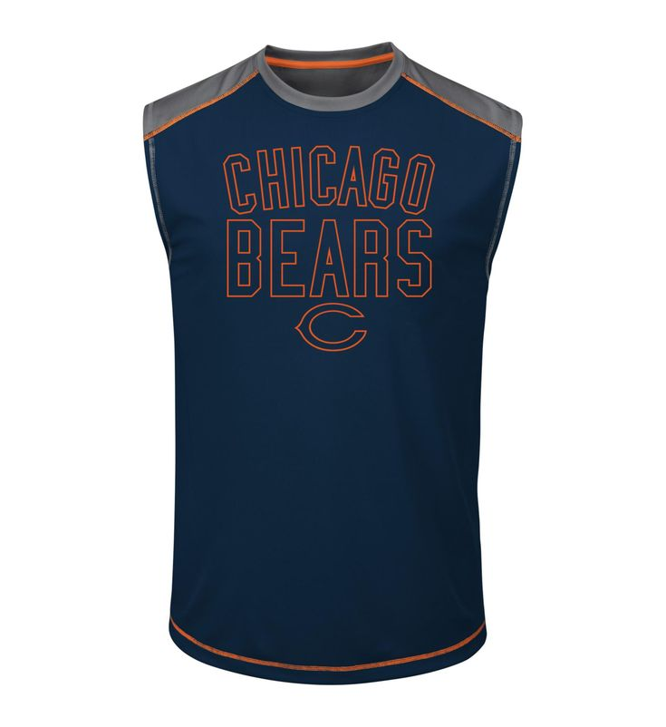 NFL Men's Muscle T-Shirt - Chicago Bears, Size: Medium, Purple