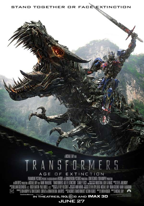 Transformers 4: Age of Extinction (It was better than what I thought it would be. I think I enjoyed this out of all the Transformer movies.)