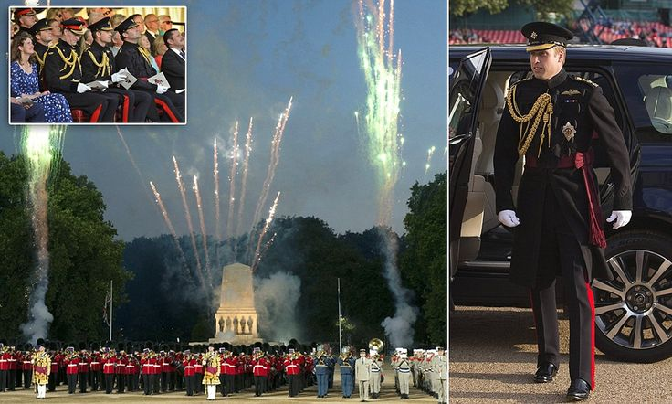 Prince William pays tribute to armed forces at Beating Retreat