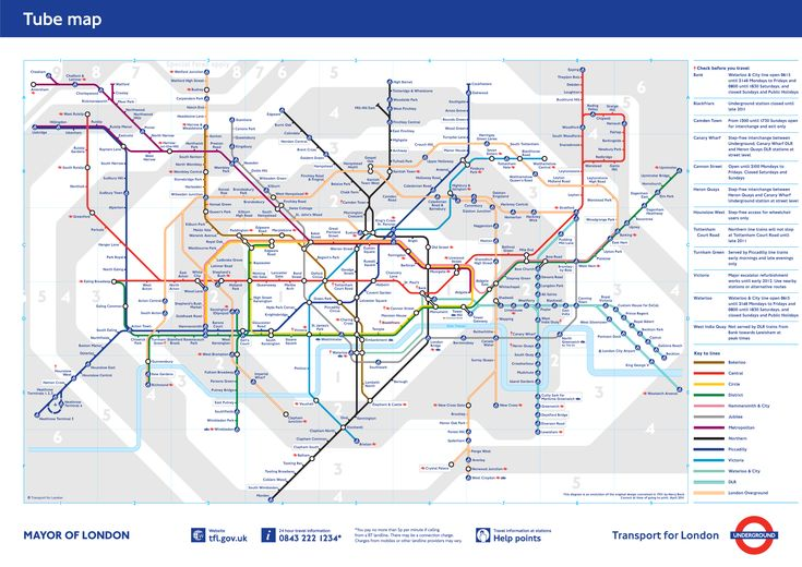 Conquer the Tube.  :)  ~ London Tube Map