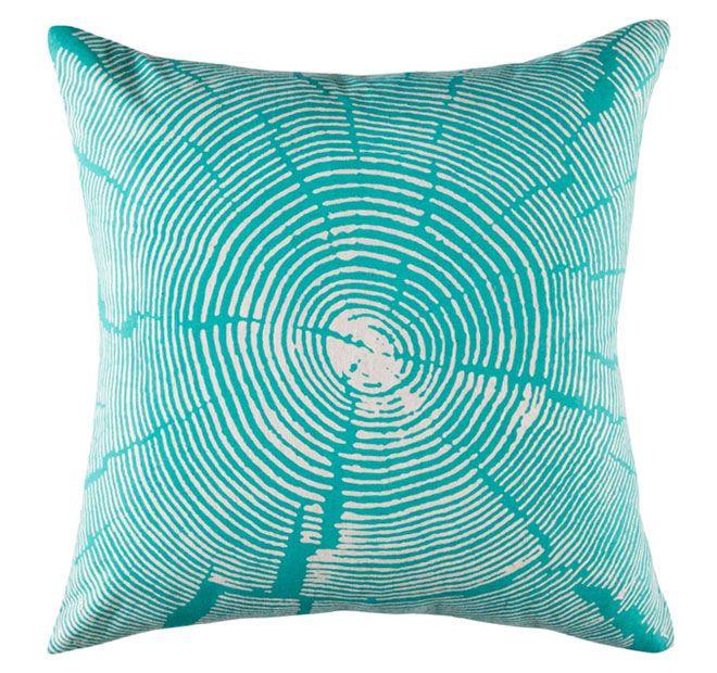 Kas Wood Slice 50x50cm Filled Cushion Teal