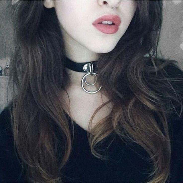 Classic Punk Rock Dark Harajuku Double O RING Leather Collar Choker Necklace #UnbrandedGeneric #Statement