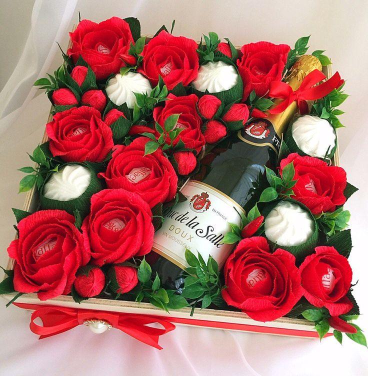 Букета цветов, необычные букеты на юбилей женщине