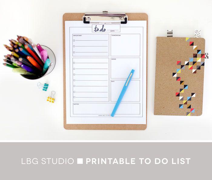 {} Lbg Studio: tous les jours pour faire la liste | imprimer gratuitement