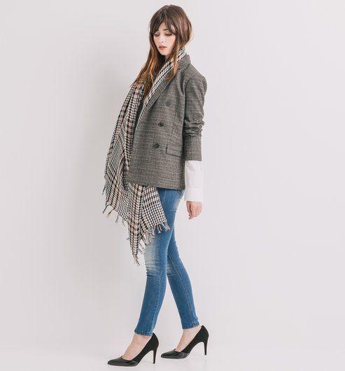 Veste en jean lewis femme