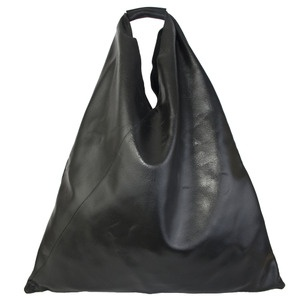 MM6 by Maison Martin Margiela  Cracked leather Slouch Bag