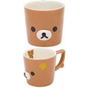Rilakkuma Die Cut Mug Cup $14.00 http://thingsfromjapan.net/rilakkuma-die-cut-mug-cup/ #rilakkuma mug #san x cup #kawaii mug