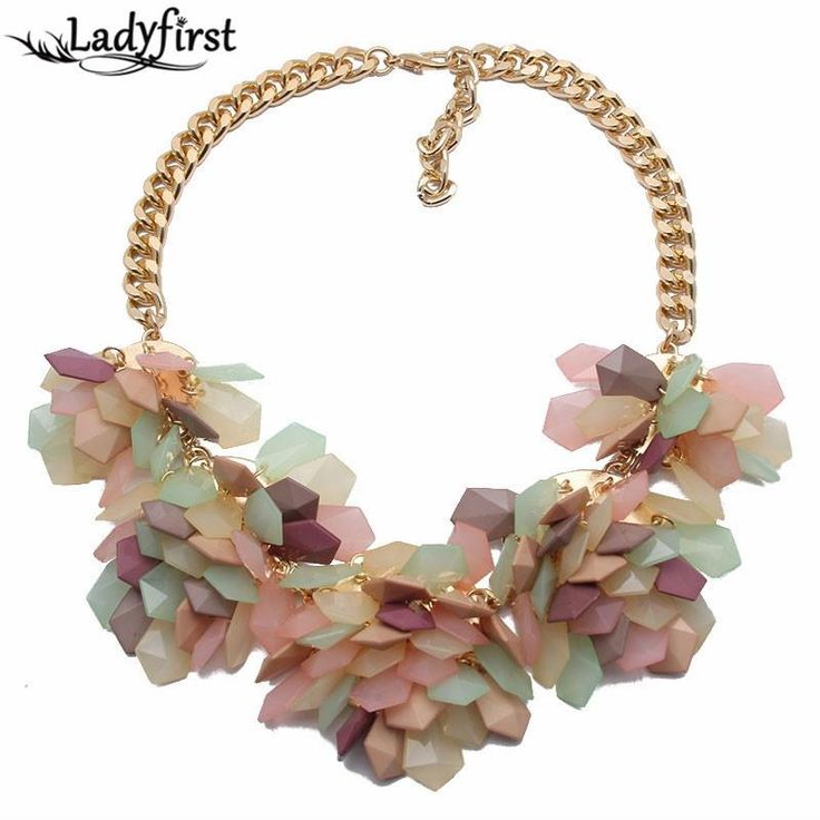 Popular Fashion Necklace Exaggerated Geometric Colorful Jelly color Crystal Gems Flower Necklace 4618 Like if you rememberGet it here ---> www.jewelrydue.co... #shop #beauty #Woman's fashion #Products #homemade