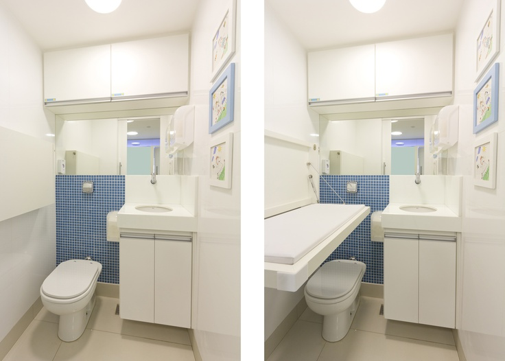 Pediatric Clinic In Brasilia Bathroom With A Diaper Changer Interiors Pinterest Interiors