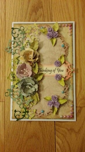 Handmade thinking about you card.