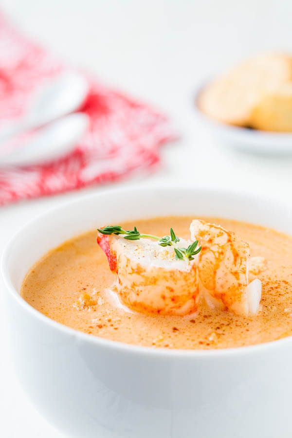 Rich and flavorful, this lobster bisque is out-of-this-world delicious and satisfying! It's better than restaurant version, because you get to add chunks of lobster meat!