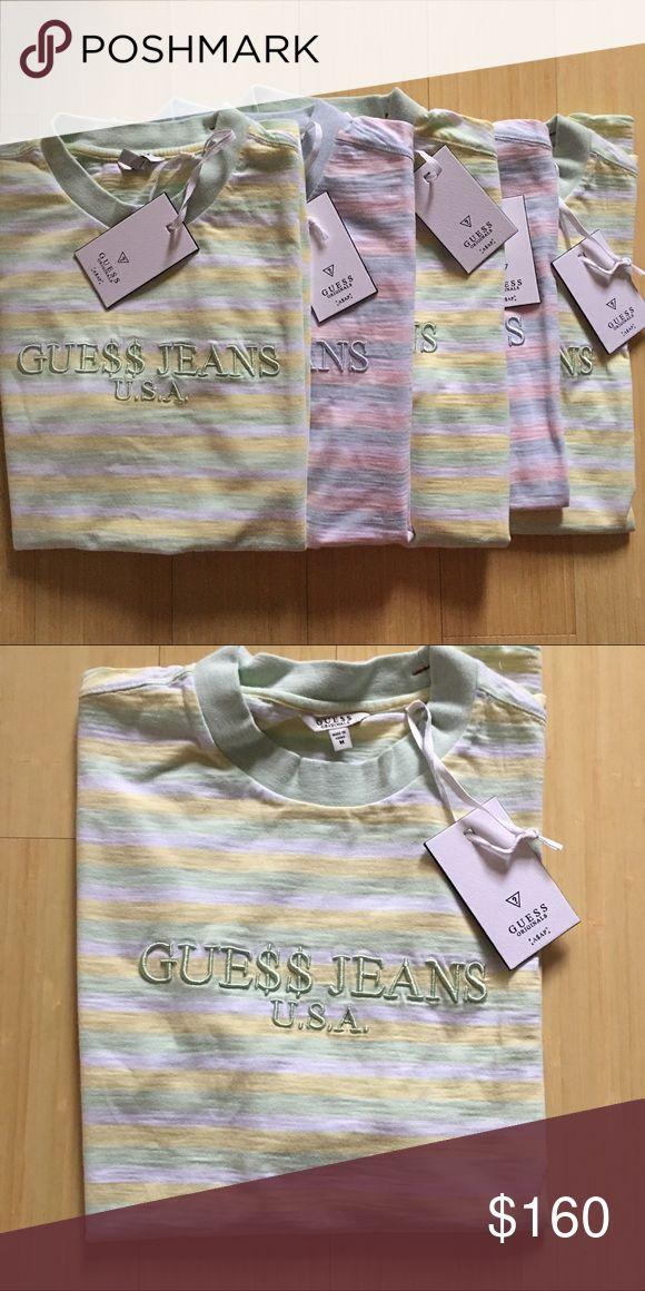 Guess x Asap Rocky Tshirt Guess x Asap Rocky 3 stripe David Reactive. Green. Size m. New with tags. Short sleeve Guess Shirts Tees - Short Sleeve
