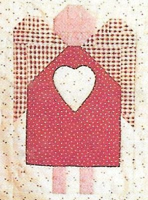 Mumms The Word Made In Heaven Angel Quilt Easy Quilt Pattern Debbie Mumm Template Free Chart Pack Rare Out of Print Folk Art Angel Pattern by carolinagirlz2 on Etsy