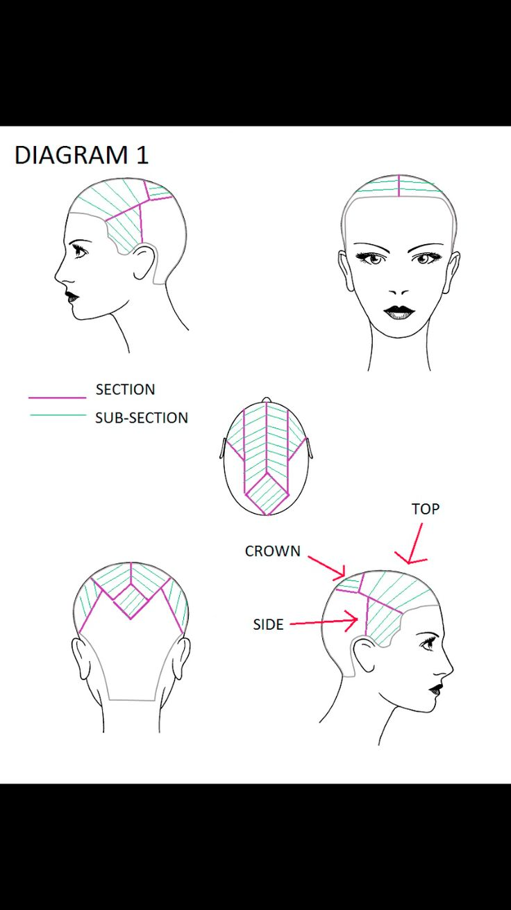 Partial Highlighting Sectioning Hair Color Techniques