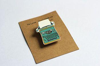 typewriter brooch by helena carrington illustration | notonthehighstreet.com