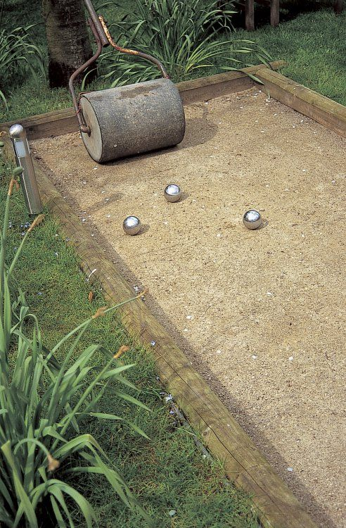 This is the perfect court size. You don't need anything bigger for the usual purposes of bocce...and the balls will actually roll.