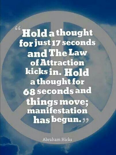 Your thoughts create your reality-quickly!