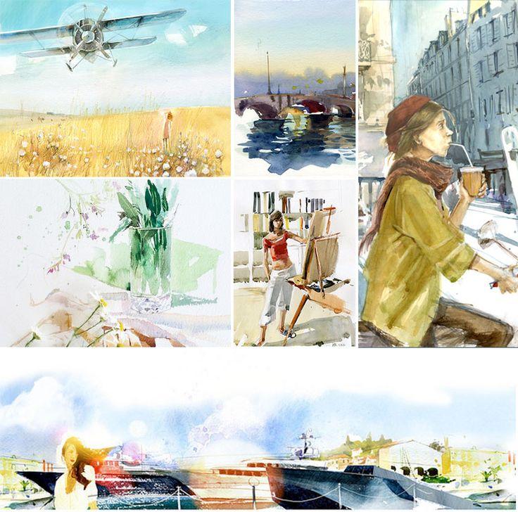 Курс акварельной живописи с Вероникой Калачевой | Школа рисования для взрослых Вероники Калачёвой — Kalachevaschool | Обучение вживую в Москве и онлайн по всему миру