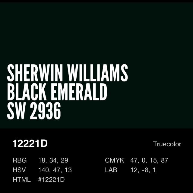 Front Door Sherwin Williams Black Emerald Sw 2936