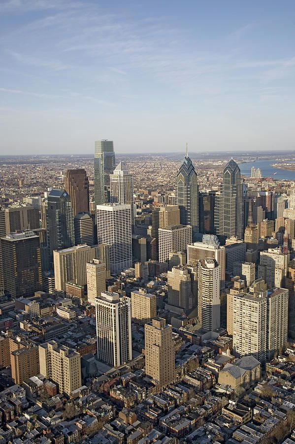 """✮ Philadelphia, PA - Aerial View of Downtown visited many times, shopping, sports, Phillies, Flyers, 76ers, eagles, art museum"""",Surekill"""" expressway,  CHEESE STEAKS! GENO'S, born 50 miles north in Quakertown"""