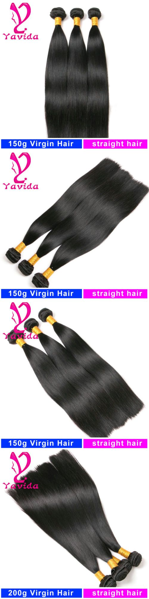 Hair Extensions: 8A Straight Human Hair Extensions Weave 3 Bundles 150G Brazilian Virgin Hair -> BUY IT NOW ONLY: $50.77 on eBay!
