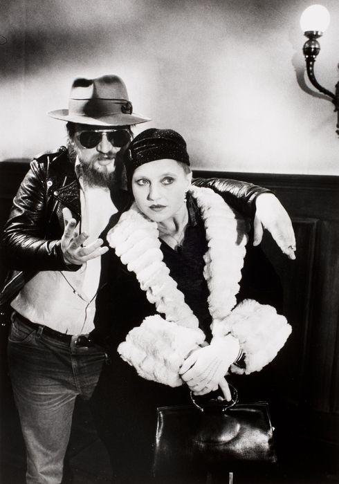 Director Rainer Werner Fassbinder with star Hanna Schygulla, Berlin Alexanderplatz, Munich