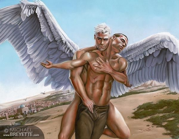 sexy naked male angel