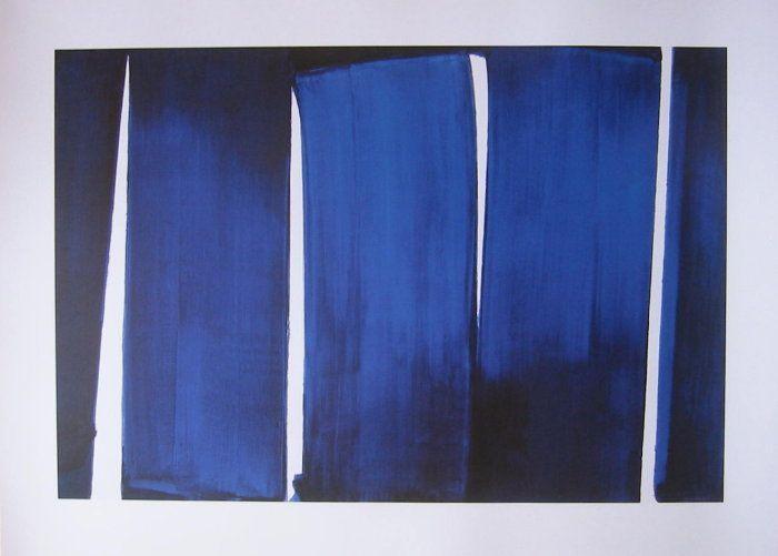 Pierre soulages offset peinture 12 juin 1989 for Art minimal pompidou