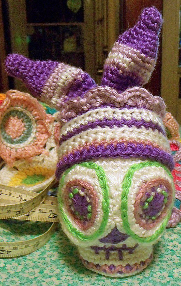 62 besten Skull crochet Bilder auf Pinterest | Totenköpfe aus zucker ...